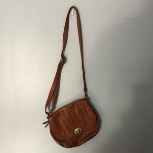 Fossil crossbody adjustable strap camel purse